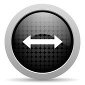 Flechas negro brillante icono de círculo web — Foto de Stock