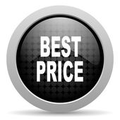 Best price black circle web glossy icon — Stock Photo