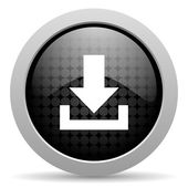 Download black circle web glossy icon — Stock Photo