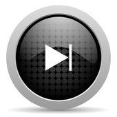 Next black circle web glossy icon — Stock Photo