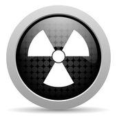 Radiation black circle web glossy icon — Stock Photo