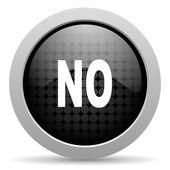 No black circle web glossy icon — Stock Photo