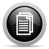 Icono de web brillante documento círculo negro — Foto de Stock