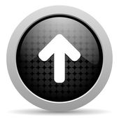Arrow up black circle web glossy icon — Stock Photo