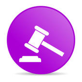 Law violet circle web glossy icon — Stock Photo