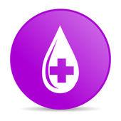 Krwi fioletowy koło www błyszczący ikona — Zdjęcie stockowe