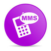 Mms violet circle web glossy icon — Photo
