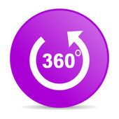 Panorama violet circle web glossy icon — Stock Photo