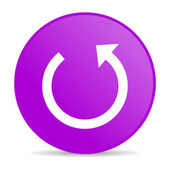 Rotate violet circle web glossy icon — Stock Photo