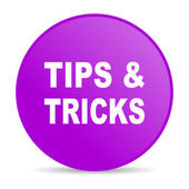 Tips violet circle web glossy icon — Stock Photo