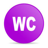 Wc violet circle web glossy icon — Stock Photo