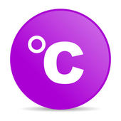 Celsius violet circle web glossy icon — Stock Photo