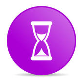 Time violet circle web glossy icon — Stock Photo
