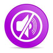 Mute violet circle web glossy icon — Stock Photo