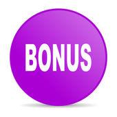 Bonus violet circle web glossy icon — Stock Photo
