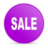 Sprzedaż fioletowy koło www błyszczący ikona — Zdjęcie stockowe