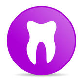 Tooth violet circle web glossy icon — Stock Photo