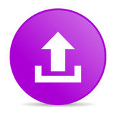 Upload violet circle web glossy icon — Stock Photo