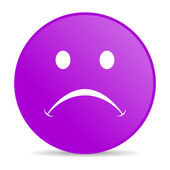 Cry violet circle web glossy icon — Stock Photo