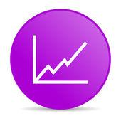 Chart violet circle web glossy icon — Stock Photo