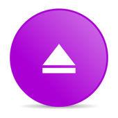 извлечь фиолетовый круг веб глянцевой значок — Стоковое фото