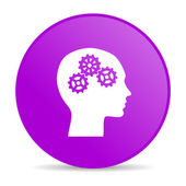 Head violet circle web glossy icon — Stock Photo
