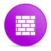 Glanzende pictogram van het web van firewall-violet cirkel — Stockfoto