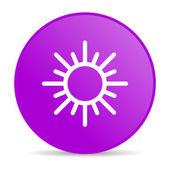 Słońce fioletowy koło www błyszczący ikona — Zdjęcie stockowe