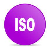 Iso violet circle web glossy icon — Stock Photo