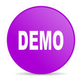 Demo violet circle web glossy icon — Stock Photo