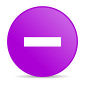 Minus violet circle web glossy icon — Stock Photo