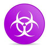 病毒紫圈 web 光泽图标 — 图库照片