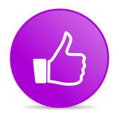 Like violet circle web glossy icon — Stock Photo