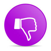 Dislike violet circle web glossy icon — Stock Photo