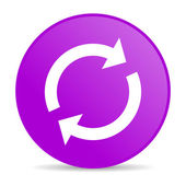 Reload violet circle web glossy icon — Stock Photo