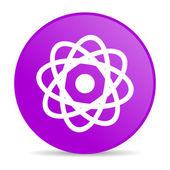 Atom violett cirkel web blanka ikonen — Stockfoto