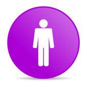 Icono brillante de hombre violeta círculo web — Foto de Stock