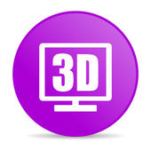 3d display violet circle web glossy icon — Stock Photo