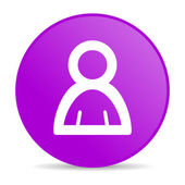 Account violet circle web glossy icon — Stock Photo