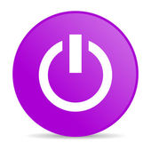 Power violet circle web glossy icon — Stock Photo