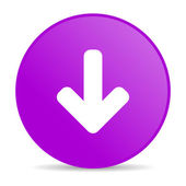 Arrow down violet circle web glossy icon — Stock Photo