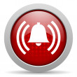 Stock Photo: Alarm red circle web glossy icon