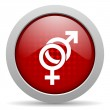 Sex red circle web glossy icon — Stock Photo #24945307