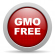 Gmo free red circle web glossy icon - Lizenzfreies Foto