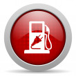 Fuel red circle web glossy icon — Stock Photo #24945611