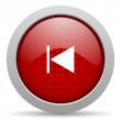 Prev red circle web glossy icon — Stock Photo #24945759