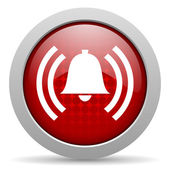 Alarm red circle web glossy icon — Stock Photo