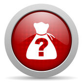Riddle red circle web glossy icon — Stock Photo