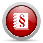 Law red circle web glossy icon — Stock Photo