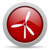 Windmill red circle web glossy icon — Stock Photo